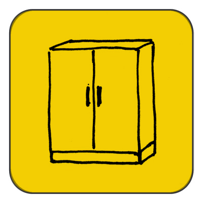 Cupboard, up to 2 doors, not dismountable