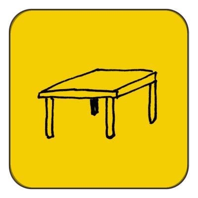 Table below 1,0 m