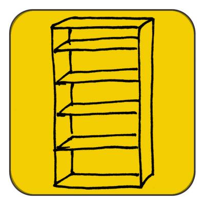 Bookshelf (zerlegrab), depending on  m